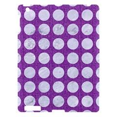 Circles1 White Marble & Purple Denim Apple Ipad 3/4 Hardshell Case