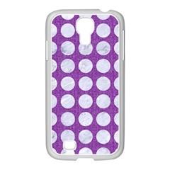 Circles1 White Marble & Purple Denim Samsung Galaxy S4 I9500/ I9505 Case (white)