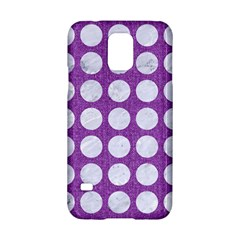 Circles1 White Marble & Purple Denim Samsung Galaxy S5 Hardshell Case