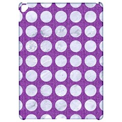 Circles1 White Marble & Purple Denim Apple Ipad Pro 12 9   Hardshell Case
