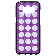 Circles1 White Marble & Purple Denim Samsung Galaxy S8 Black Seamless Case