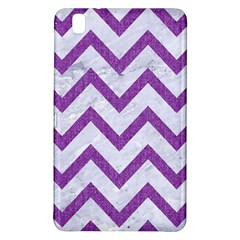 Chevron9 White Marble & Purple Denim (r) Samsung Galaxy Tab Pro 8 4 Hardshell Case