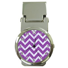 Chevron9 White Marble & Purple Denimchevron9 White Marble & Purple Denim Money Clip Watches