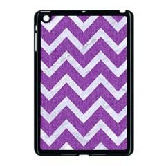 Chevron9 White Marble & Purple Denimchevron9 White Marble & Purple Denim Apple Ipad Mini Case (black)