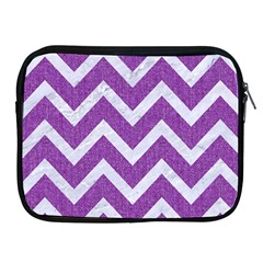 Chevron9 White Marble & Purple Denimchevron9 White Marble & Purple Denim Apple Ipad 2/3/4 Zipper Cases by trendistuff