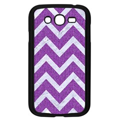 Chevron9 White Marble & Purple Denimchevron9 White Marble & Purple Denim Samsung Galaxy Grand Duos I9082 Case (black)