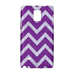 Chevron9 White Marble & Purple Denimchevron9 White Marble & Purple Denim Samsung Galaxy Note 4 Hardshell Case