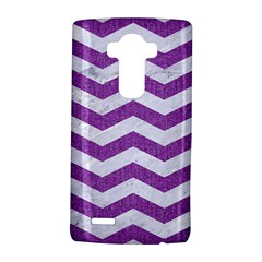 Chevron3 White Marble & Purple Denim Lg G4 Hardshell Case