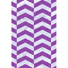 Chevron2 White Marble & Purple Denim 5 5  X 8 5  Notebooks