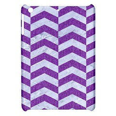 Chevron2 White Marble & Purple Denim Apple Ipad Mini Hardshell Case