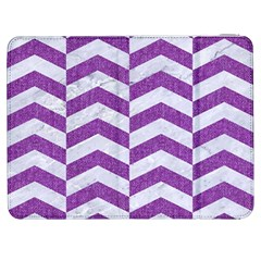 Chevron2 White Marble & Purple Denim Samsung Galaxy Tab 7  P1000 Flip Case by trendistuff