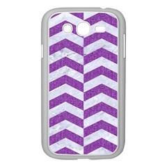 Chevron2 White Marble & Purple Denim Samsung Galaxy Grand Duos I9082 Case (white)