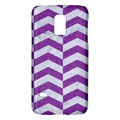 Chevron2 White Marble & Purple Denim Galaxy S5 Mini