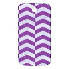 Chevron2 White Marble & Purple Denim Samsung Galaxy Mega I9200 Hardshell Back Case
