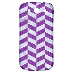 Chevron1 White Marble & Purple Denim Samsung Galaxy S3 S Iii Classic Hardshell Back Case