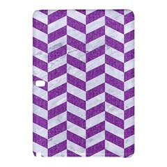 Chevron1 White Marble & Purple Denim Samsung Galaxy Tab Pro 10 1 Hardshell Case