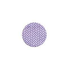 Brick2 White Marble & Purple Denim (r) 1  Mini Magnets by trendistuff