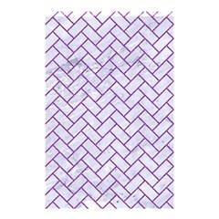 Brick2 White Marble & Purple Denim (r) Shower Curtain 48  X 72  (small)  by trendistuff