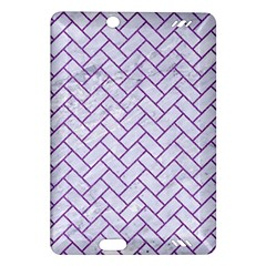 Brick2 White Marble & Purple Denim (r) Amazon Kindle Fire Hd (2013) Hardshell Case