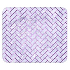 Brick2 White Marble & Purple Denim (r) Double Sided Flano Blanket (small)