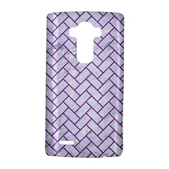 Brick2 White Marble & Purple Denim (r) Lg G4 Hardshell Case