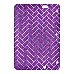 Brick2 White Marble & Purple Denim Kindle Fire Hdx 8 9  Hardshell Case