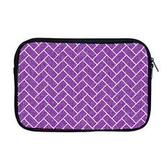 Brick2 White Marble & Purple Denim Apple Macbook Pro 17  Zipper Case