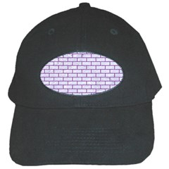 Brick1 White Marble & Purple Denim (r) Black Cap by trendistuff