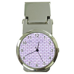Brick1 White Marble & Purple Denim (r) Money Clip Watches