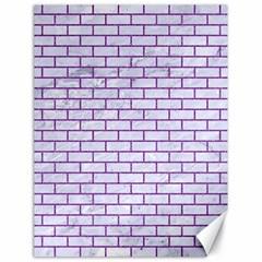 Brick1 White Marble & Purple Denim (r) Canvas 18  X 24