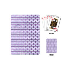 Brick1 White Marble & Purple Denim (r) Playing Cards (mini)