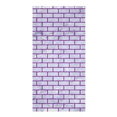 Brick1 White Marble & Purple Denim (r) Shower Curtain 36  X 72  (stall)  by trendistuff