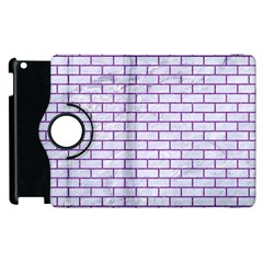 Brick1 White Marble & Purple Denim (r) Apple Ipad 3/4 Flip 360 Case by trendistuff