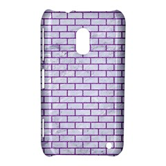 Brick1 White Marble & Purple Denim (r) Nokia Lumia 620