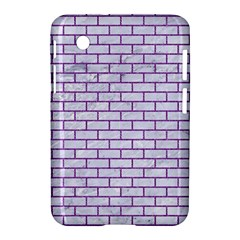 Brick1 White Marble & Purple Denim (r) Samsung Galaxy Tab 2 (7 ) P3100 Hardshell Case