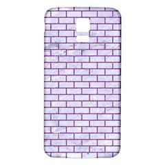 Brick1 White Marble & Purple Denim (r) Samsung Galaxy S5 Back Case (white)