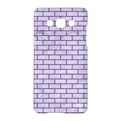 Brick1 White Marble & Purple Denim (r) Samsung Galaxy A5 Hardshell Case