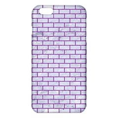 Brick1 White Marble & Purple Denim (r) Iphone 6 Plus/6s Plus Tpu Case