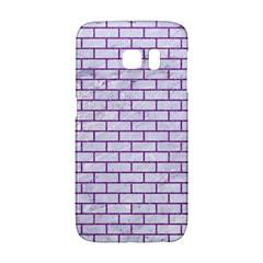 Brick1 White Marble & Purple Denim (r) Galaxy S6 Edge