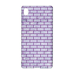 Brick1 White Marble & Purple Denim (r) Sony Xperia Z3+