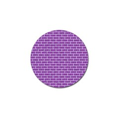 Brick1 White Marble & Purple Denim Golf Ball Marker by trendistuff