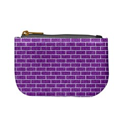 Brick1 White Marble & Purple Denim Mini Coin Purses