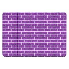 Brick1 White Marble & Purple Denim Samsung Galaxy Tab 8 9  P7300 Flip Case