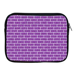 Brick1 White Marble & Purple Denim Apple Ipad 2/3/4 Zipper Cases