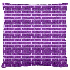 Brick1 White Marble & Purple Denim Standard Flano Cushion Case (one Side)