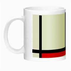 Piet Mondrian Mondriaan Style Night Luminous Mugs by yoursparklingshop