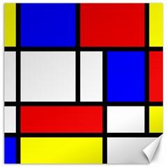 Piet Mondrian Mondriaan Style Canvas 12  X 12