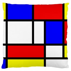 Piet Mondrian Mondriaan Style Large Cushion Case (two Sides)