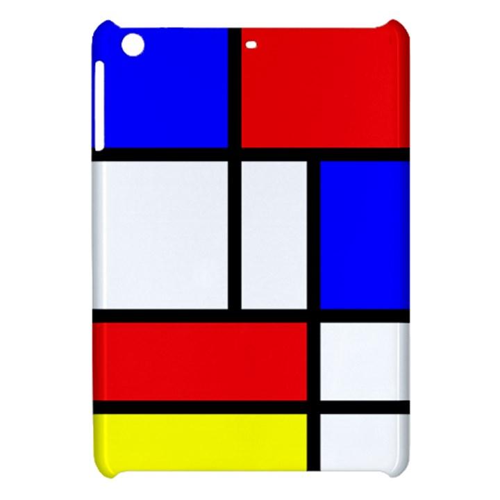 Piet Mondrian Mondriaan Style Apple iPad Mini Hardshell Case