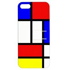 Piet Mondrian Mondriaan Style Apple Iphone 5 Hardshell Case With Stand